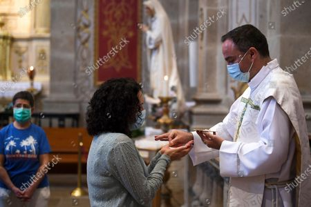 Editorial image of Mass in the Basilica of Bom Jesus do Monte in Braga, Portugal - 30 May 2020