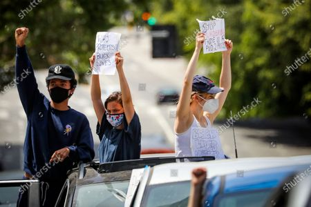 Editorial photo of Protests over the killing of George Floyd, Los Angeles, USA - 30 May 2020