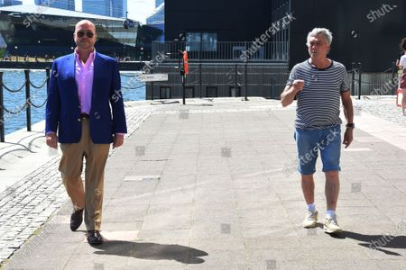 Billy Murray and Jonathan Sothcott out and about, London