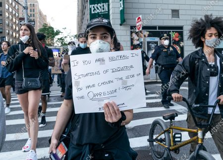 Editorial image of Peaceful protest against police in New York, New York, New York, United States - 31 May 2020
