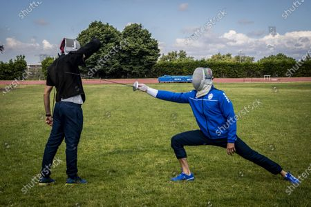 Editorial picture of Coronavirus emergency, phase 2, the Fencer Aldo Montano resumes training, Rome, Italy - 30 May 2020