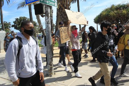 Machine Gun Kelly and Mod Sun take part in the Black Lives Matter protest in Santa Monica