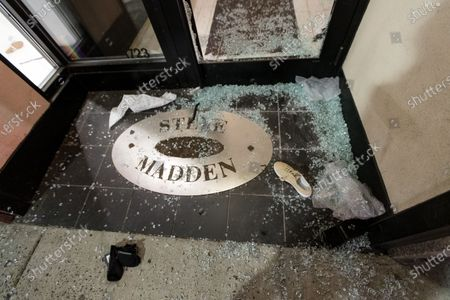 A Steve Madden store vandalized and looted