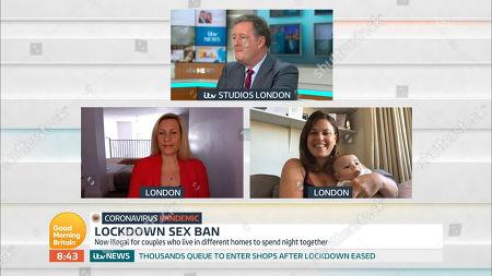 Piers Morgan, Kate Mansfield and Nadia Essex