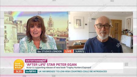 Lorraine Kelly and Peter Egan