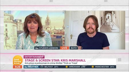 Lorraine Kelly and Kris Marshall