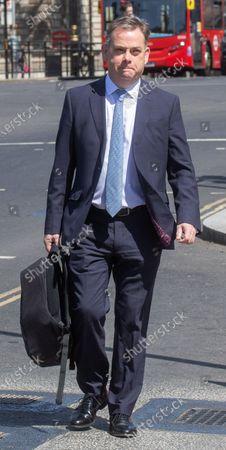 Nigel Adams arrives at Parliament