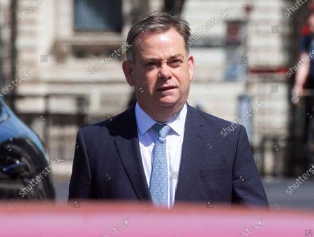 Stock Photo of Nigel Adams arrives at Parliament