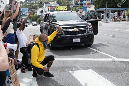 Editorial picture of Black Lives Matter protest, Los Angeles, California, USA - 01 Jun 2020