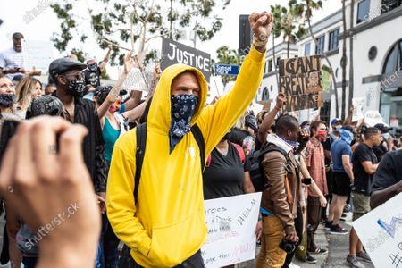 Editorial image of Black Lives Matter protest, Los Angeles, California, USA - 01 Jun 2020