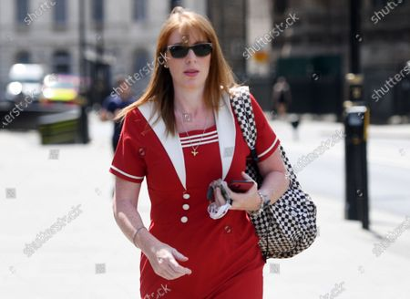 Labour party deputy leader Angela Rayner arrives at the Houses of Parliament in London, Britain, 02 June 2020. British Members of Parliament return to parliament today as the virtual system introduced during coronavirus pandemic is ended. Countries around the world are taking increased measures to stem the widespread of the SARS-CoV-2 coronavirus which causes the Covid-19 disease.
