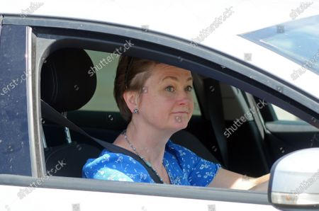 Yvette Cooper Member of Parliament for Normanton, Pontefract and Castleford arrives at the Houses of Parliament