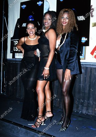 Salt -N -Pepa - Salt (Cheryl James), Pepa (Sandra Denton), and DJ Spinderella (Deidra Roper) - World Music Awards 1995