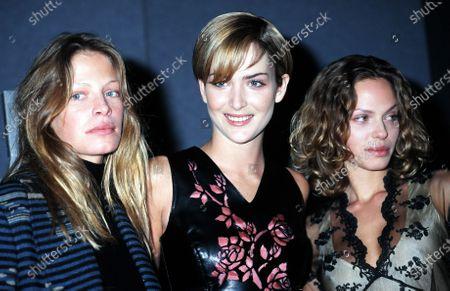 Stock Photo of (L -R) Tanga Moreau, Georgina Grenville and Rachel Roberts - Pirelli Calendar 1997