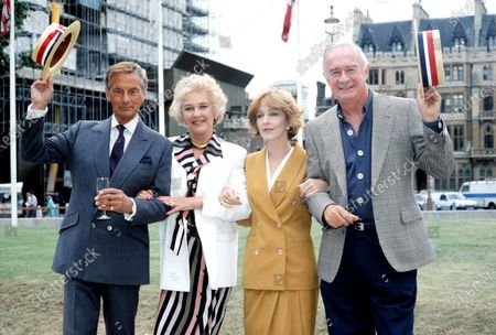 Stock Picture of Katie Boyle, Jane Asher and William Franklyn c.1990
