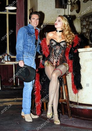 Jerry Hall Model and Shaun Cassidy starring stage production Bus Stop in London 1990