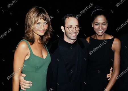 Stock Image of L-R Helena Christensen, Herb Ritts and Karen Alexander c.1995