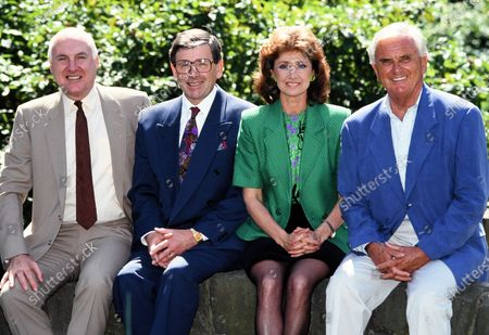 Stock Picture of BBC Newsreaders - L -R Gordon Honeycombe, Richard Whitmore, Jan Leeming and Kenneth Kendall 1993