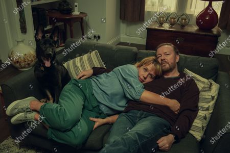 Kerry Godliman as Lisa and Ricky Gervais as Tony