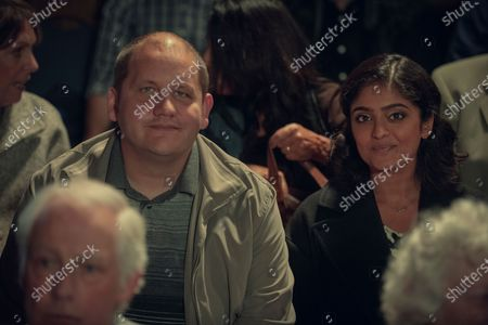 Stock Picture of Tony Way as Lenny and Mandeep Dhillon as Sandy