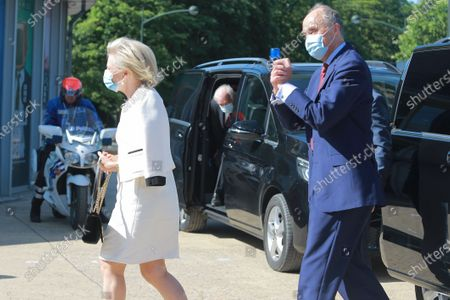 Editorial picture of Belgian Royals visit to the reopening of the Atomium, Brussels, Belgium - 01 Jun 2020