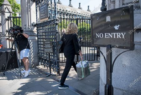Stock Image of Conservative MP Penny Mordaunt Is seen arriving at The Houses of Parliament in London ahead of a 90-minute debate on the new voting system and a series of votes this afternoon. Government has introduced further measures to slowly ease lockdown, which was introduced to fight the spread of the COVID-19 strain of coronavirus.