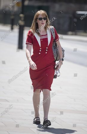 Deputy Labour Party Leader Angela Rayner MP Is seen arriving at The Houses of Parliament in London ahead of a 90-minute debate on the new voting system and a series of votes this afternoon. Government has introduced further measures to slowly ease lockdown, which was introduced to fight the spread of the COVID-19 strain of coronavirus.
