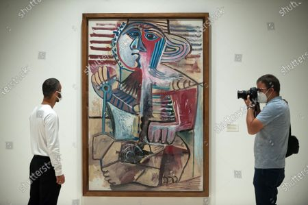 """Editorial photo of Exhibition of 'Dialogues with Picasso"""" in Malaga, Spain - 2 May 2020"""