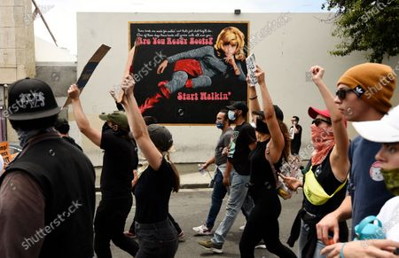 Editorial picture of America Protests , Los Angeles, United States - 02 Jun 2020