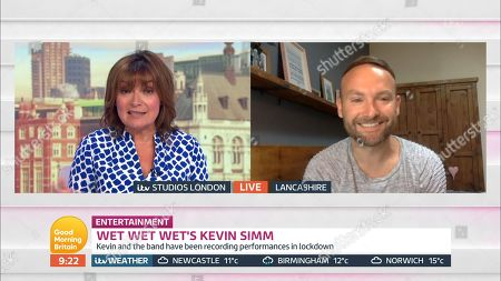 Lorraine Kelly and Kevin Simm