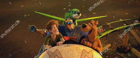 Shaggy Rogers (Will Forte), Blue Falcon (Mark Wahlberg), Dynomutt (Ken Jeong) and Scooby-Doo (Frank Welker)