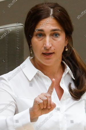 Flemish Minister of Environment, Energy, Tourism and Justice Zuhal Demir pictured during a plenary session of the Flemish Parliament in Brussels, Wednesday 03 June 2020.