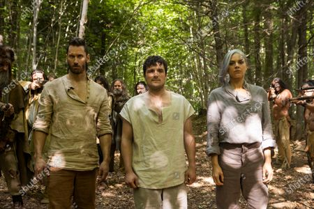 Derek Wilson as Wolf, Josh Hutcherson as Josh Futturman and Eliza Coupe as Tiger