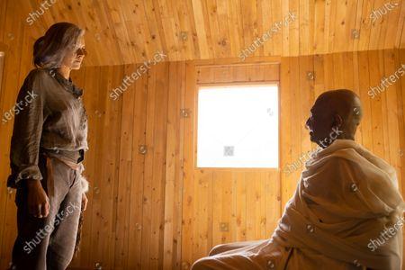 Eliza Coupe as Tiger and Kannan Menon as Gandhi