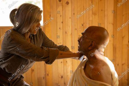Stock Image of Eliza Coupe as Tiger and Kannan Menon as Gandhi