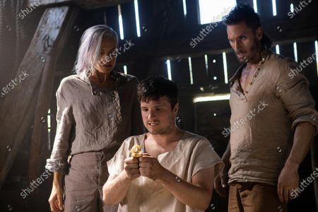 Stock Photo of Eliza Coupe as Tiger, Josh Hutcherson as Josh Futturman and Derek Wilson as Wolf