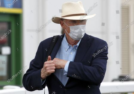 Trainer John Gosden with face maskGreat Yarmouth Pic Dan Abraham, supplied by Hugh Routledge via Racing Photographers' Pool.