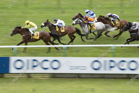 Stock Image of Far Above (P J McDonald) wins the Betfair supports Racing Welfare Palace House Stakes from Judicial (Callum Rodriguez)Newmarket 6.6.20 Pic: Edward Whitaker, supplied by Hugh Routledge via Racing Photographers' Pool.