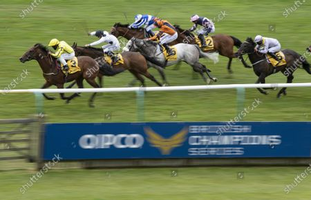Stock Picture of Far Above (P J McDonald) wins the Betfair supports Racing Welfare Palace House Stakes from Judicial (Callum Rodriguez)Newmarket 6.6.20 Pic: Edward Whitaker, supplied by Hugh Routledge via Racing Photographers' Pool.