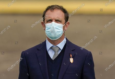 NEWMARKET, ENGLAND - JUNE 07: Trainer Charlie Appleby at Newmarket Racecourse on June 07, 2020 in Newmarket, England. (Photo by Alan Crowhurst/Getty Images), supplied by Hugh Routledge via Racing Photographers' pool