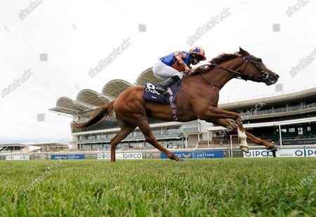 NEWMARKET, ENGLAND - JUNE 07: Ryan Moore riding Love win The Qipco 1000 Guineas Stakes at Newmarket Racecourse on June 07, 2020 in Newmarket, England. (Photo by Alan Crowhurst/Getty Images), supplied by Hugh Routledge via racing Photographers' Pool.