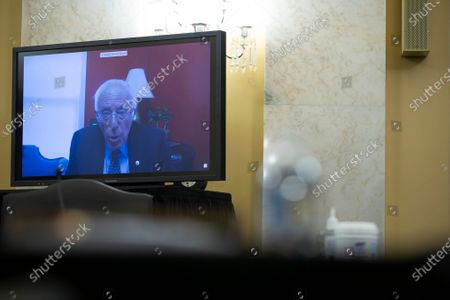 United States Senator Bernie Sanders (Independent of Vermont) speaks via teleconference as the United States Senate Committee on the Budget considers the nomination of Director, Office of Management and Budget (OMB) Russell Vought to be Director of Office of Management and Budget on Capitol Hill in Washington D.C., U.S.,.