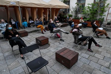 Editorial image of Outdoor cinema at a Patio, Lublin, Poland - 03 Jun 2020