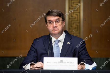 United States Secretary of Veterans Affairs (VA) Robert Wilkie testifies before the United States Senate Committee on Veteran's Affairs on Capitol Hill in Washington D.C., U.S.,.