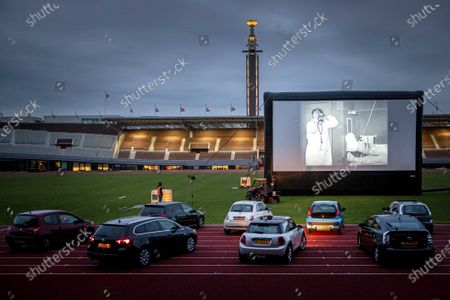 Editorial picture of Drive-in cinema for people with vital occupations, Amsterdam, Netherlands - 03 Jun 2020