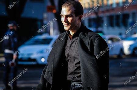 MILAN, Italy- January 11 2020: Carlo Sestini on the street during the Milan Fashion Week.
