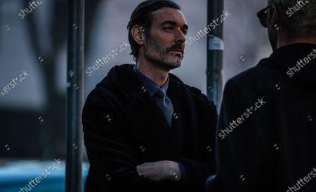 MILAN, Italy- January 11 2020: Richard Biedul on the street during the Milan Fashion Week.