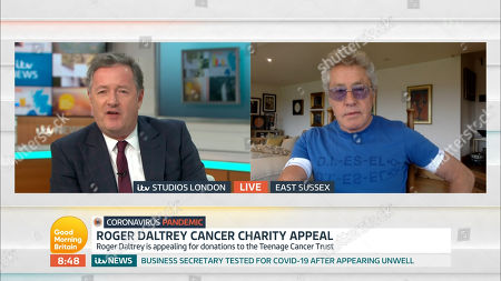 Stock Picture of Piers Morgan and Roger Daltrey