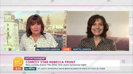 Lorraine Kelly and Rebecca Front