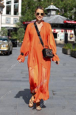Stock Photo of Vogue Williams at Global Radio